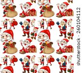 seamless santa with christmas...   Shutterstock .eps vector #260104112