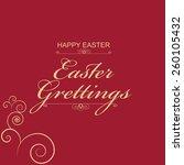 vector illustration or greeting ... | Shutterstock .eps vector #260105432