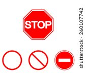 prohibition signs  set vector... | Shutterstock .eps vector #260107742
