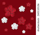 vector chinese new year paper... | Shutterstock .eps vector #260110136