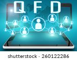 qfd   quality function... | Shutterstock . vector #260122286