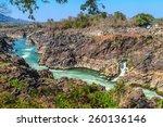 khong pha peng waterfalls ... | Shutterstock . vector #260136146