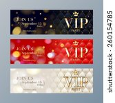 set of colorful vip party web... | Shutterstock .eps vector #260154785