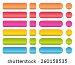 colorful set of buttons in...   Shutterstock .eps vector #260158535