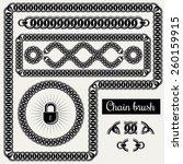 vector decorative chain design... | Shutterstock .eps vector #260159915