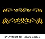 golden ornamental element  art... | Shutterstock . vector #260162018