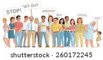 group of people  manifesting | Shutterstock . vector #260172245
