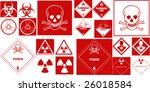fine hazard danger vector red... | Shutterstock .eps vector #26018584