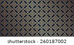 vector card with a gold pattern.... | Shutterstock .eps vector #260187002