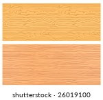 Two seamless wood textures in warm colors - stock vector