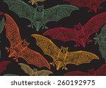 vector seamless halloween... | Shutterstock .eps vector #260192975