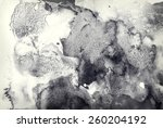 abstract painted ink and... | Shutterstock . vector #260204192