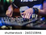 dj playing disco house... | Shutterstock . vector #260210846