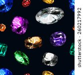 pattern precious stones on a... | Shutterstock .eps vector #260217992