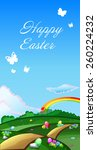 bright greeting card for easter ... | Shutterstock .eps vector #260224232