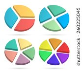 set design elements infographic ... | Shutterstock .eps vector #260225045
