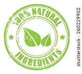 natural ingredients stamp | Shutterstock .eps vector #260229902