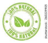 100 natural stamp | Shutterstock .eps vector #260229905