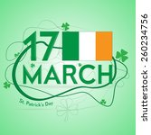 background by a st. patrick's... | Shutterstock .eps vector #260234756