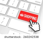 Shopping Enter Key With Hand...