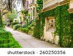 savannah  georgia  usa historic ... | Shutterstock . vector #260250356