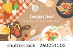 team of chefs working together... | Shutterstock .eps vector #260251502