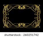 golden ornamental frame  art... | Shutterstock . vector #260251742