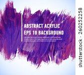 vector acrylic violet ink spot. ... | Shutterstock .eps vector #260252258