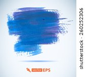 vector acrylic blue ink spot.... | Shutterstock .eps vector #260252306
