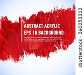 vector acrylic red ink spot.... | Shutterstock .eps vector #260252312