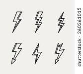 Lightning Icon Minimal Linear...