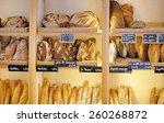 freshly baked gourmet breads...   Shutterstock . vector #260268872