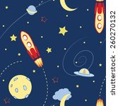 space seamless pattern with... | Shutterstock .eps vector #260270132