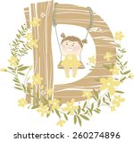 vector hand drawn floral and... | Shutterstock .eps vector #260274896