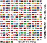 flags of the world vector | Shutterstock .eps vector #260283956