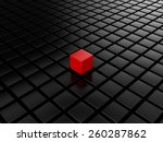 different red cube | Shutterstock . vector #260287862