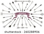 set of hand drawn arrows | Shutterstock .eps vector #260288906