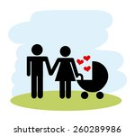 family love design  vector... | Shutterstock .eps vector #260289986