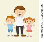 family love design  vector... | Shutterstock .eps vector #260290835
