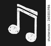 doodle note | Shutterstock .eps vector #260301986