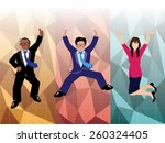 businessman and businesswoman... | Shutterstock .eps vector #260324405