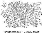 vector hand drawn arrows set... | Shutterstock .eps vector #260325035