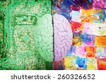 halves of the brain creative vs ... | Shutterstock . vector #260326652