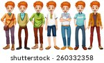 red hair hipster in different... | Shutterstock .eps vector #260332358