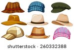 different kind of hipster hat | Shutterstock .eps vector #260332388