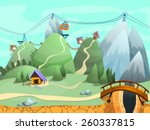 seamless cartoon hills...