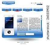 white with blue full editable... | Shutterstock .eps vector #26033902