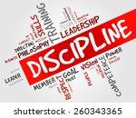 discipline word cloud  business ... | Shutterstock .eps vector #260343365