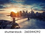 new york city   manhattan after ... | Shutterstock . vector #260344292