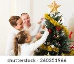 happy family of three preparing ...   Shutterstock . vector #260351966